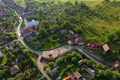 Above aerial view of a village street - PhotoDune Item for Sale