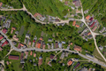 Above aerial view of a village streets - PhotoDune Item for Sale