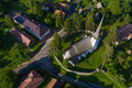 Aerial view of a reformed church in Transylvania - PhotoDune Item for Sale