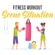 Fitness workout - Scene Situation - VideoHive Item for Sale