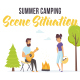 Summer camping - Scene Situation - VideoHive Item for Sale