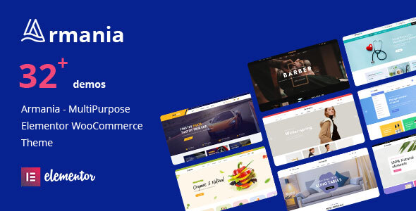 Armania - Fashion, Furniture, Organic, Food Multipurpose Elementor WooCommerce Theme (RTL Supported)