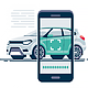 Online Car Check Scan Smartphone - GraphicRiver Item for Sale