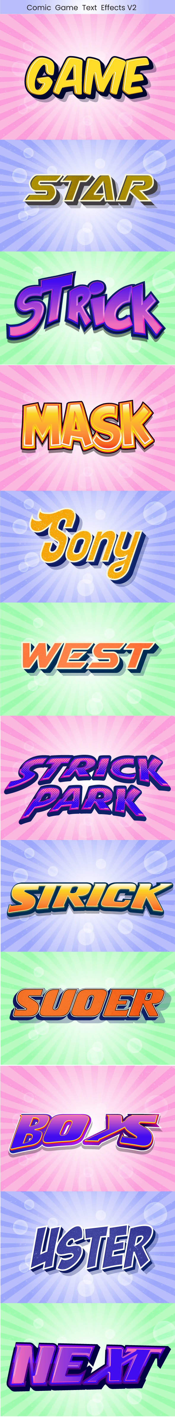 Game Text effects for Illustrator