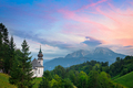 Maria Gern church and Watzmann mountain in Germany at sunset - PhotoDune Item for Sale