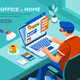 Boy Working at Home Vector Graphic - GraphicRiver Item for Sale