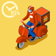 Courier Delivery Isometric Icon - GraphicRiver Item for Sale
