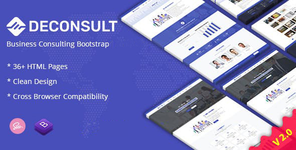 Deconsult - Business Consulting Joomla Template 1