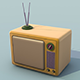 Retro TV Low Poly - 3DOcean Item for Sale