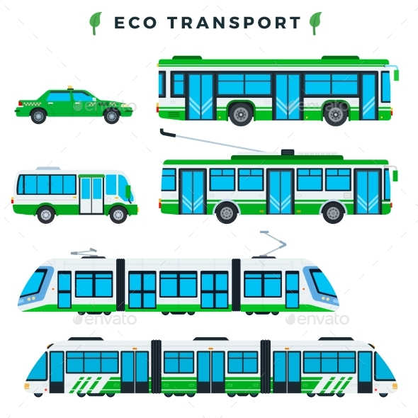 Public Eco Transport Municipal City Ecologically