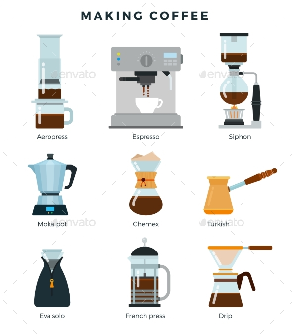 Equipment for Various Ways To Brew Coffee