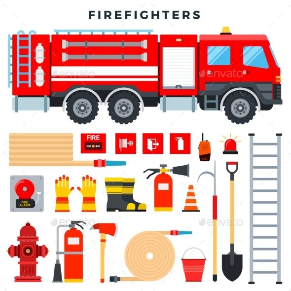 Firefighting Equipment and Gear Set