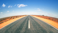 Road in Australia with curved horizon - PhotoDune Item for Sale