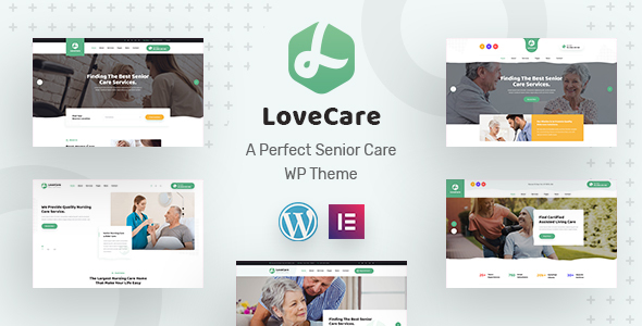 Lovecare – Senior Care WordPress Theme Preview