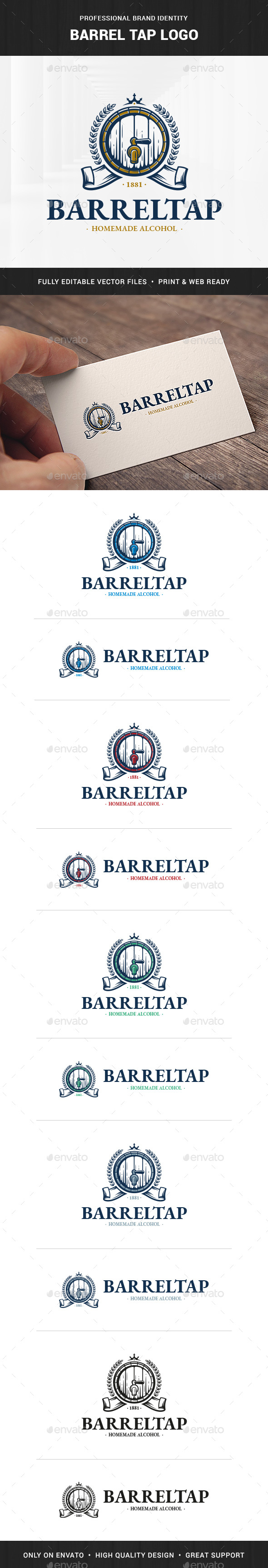 Barrel Tap Logo Template