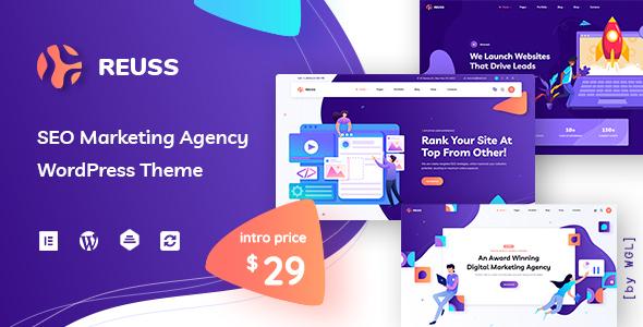 Reuss – SEO Marketing Agency WordPress Theme Preview