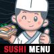 Sushi Restaurant Kids Menu Template - InDesign - GraphicRiver Item for Sale