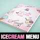 Illustrations Ice Cream A4 Menu / Flyer Template - GraphicRiver Item for Sale