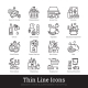 Grocery Store, Supermarket Department Linear Icons - GraphicRiver Item for Sale