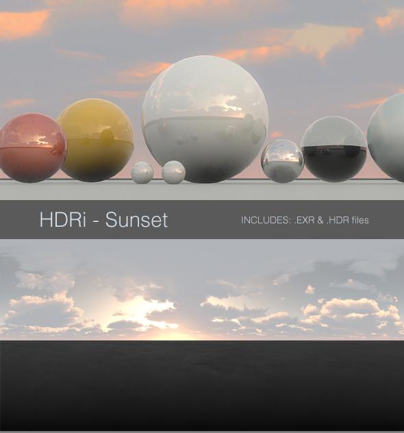 Sunrise & Sunset HDRI Images from 3DOcean
