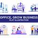 Pack of Office, Business Presentation, Team Working Flat Design Style - GraphicRiver Item for Sale