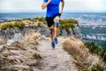 male runner in knee pads running - PhotoDune Item for Sale