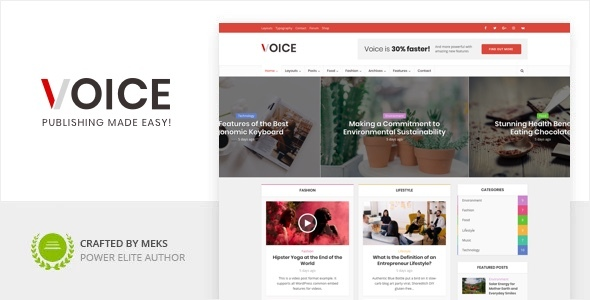 Voice – News Magazine WordPress Theme