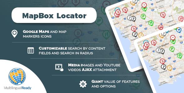 MapBox Locator plugin for WordPressPrice : $20
