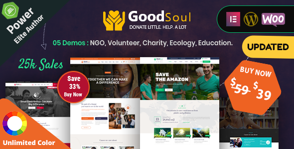 GoodSoul - Charity & Fundraising WordPress Theme
