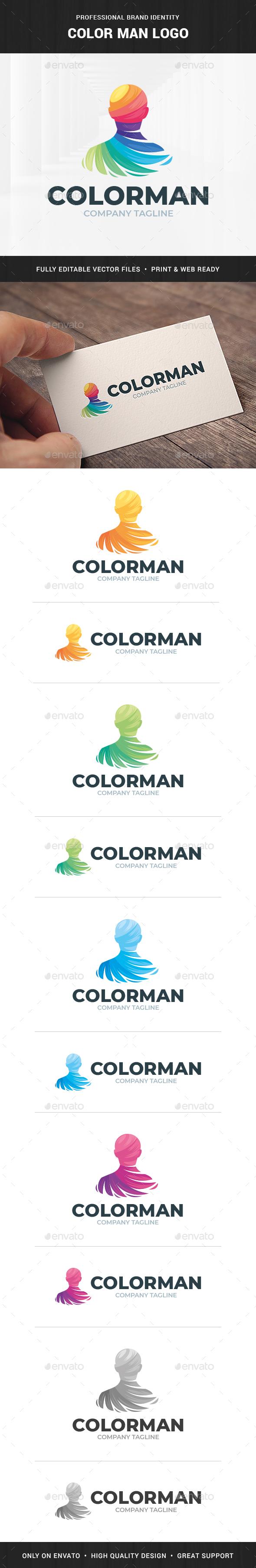 Color Man Logo Template