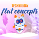 Technology - Flat Concept - VideoHive Item for Sale