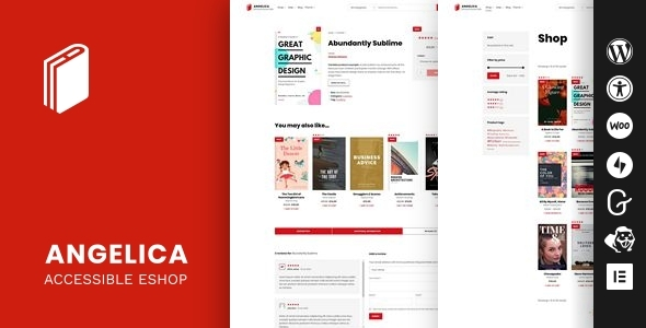 Angelica - Accessible Bookstore WordPress theme