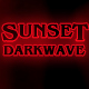 Cinematic Darkwave Logo Sunset