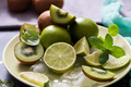 Fruits, Lime, Kiwi, Mint, Ingredietns for Cocktail Drink - PhotoDune Item for Sale