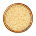 Parboiled long grain rice, converted rice in wooden bowl - PhotoDune Item for Sale