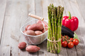 Green Asparagus and Fresh Vegetables - PhotoDune Item for Sale
