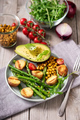 Vegan Lunch with Green Asparagus, Chickpeas and Potatoes - PhotoDune Item for Sale
