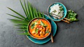 THAI SHRIMPS RED CURRY. Thailand Thai tradition red curry soup with shrimps prawns and coconut milk - PhotoDune Item for Sale