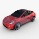 Tesla Model Y RWD Red with chassis - 3DOcean Item for Sale