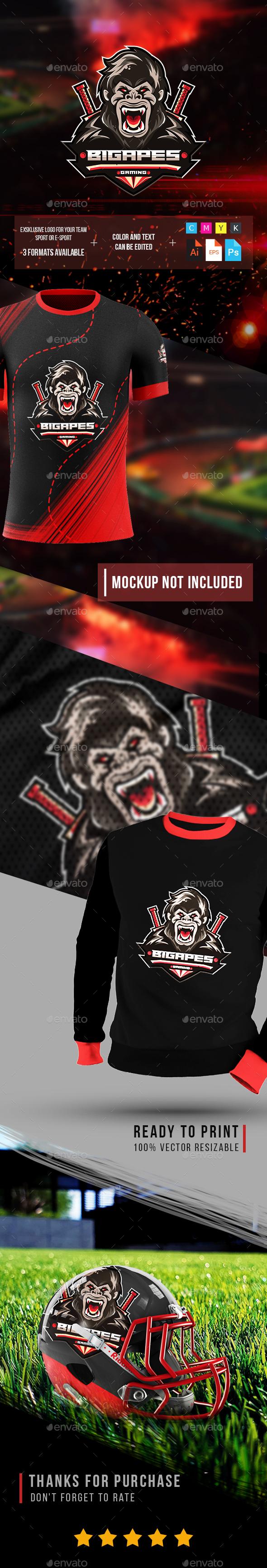 Esport Logo Big Apes fot Gaming