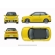 Modern Compact City Car Mockup. - GraphicRiver Item for Sale