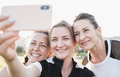 Three young woman friends taking a selfie - PhotoDune Item for Sale