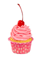 Cupcake with pink cremei in cocktail cherry - PhotoDune Item for Sale