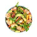 Salad with avocado, shrimp and arugula. - PhotoDune Item for Sale