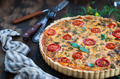 Quiche lorraine with checken and tomato - PhotoDune Item for Sale