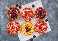 Strawberry, cherry and peach tartlets - PhotoDune Item for Sale