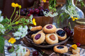Thumbprint almond cookies with jam - PhotoDune Item for Sale