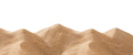 Panoramic pile sand dune isolated on white - PhotoDune Item for Sale