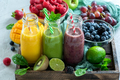 Various Colorful Smoothies With Ingredients, Healthy Detox Drink - PhotoDune Item for Sale