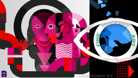 Ultra Modern Art & Motion Design Logo